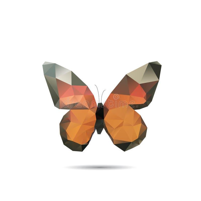 Papillon de triangle illustration libre de droits