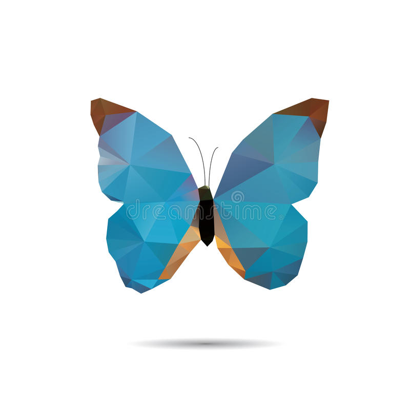 Papillon de triangle image libre de droits