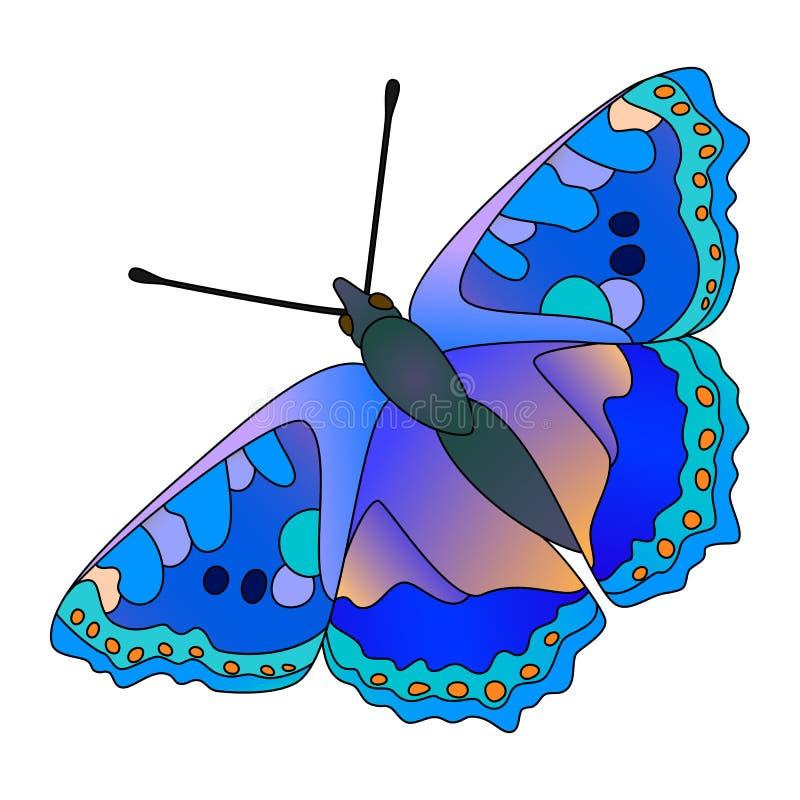 Papillon de vecteur. illustration stock