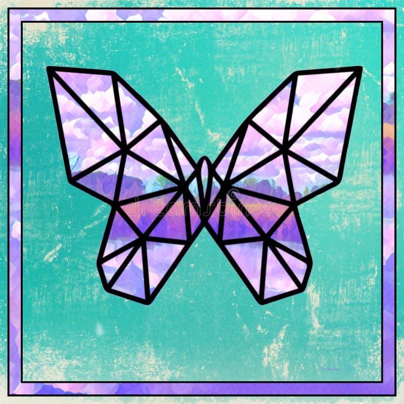 Papillon en verre souillé illustration libre de droits