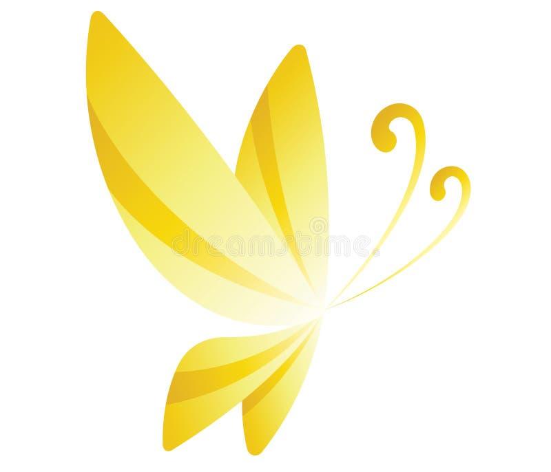 papillon jaune illustration libre de droits