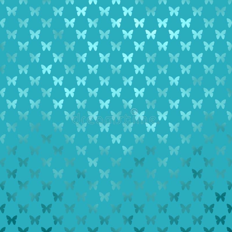 Papillon métallique d'aluminium de Faux de Teal Blue Butterflies Polka Dot illustration libre de droits