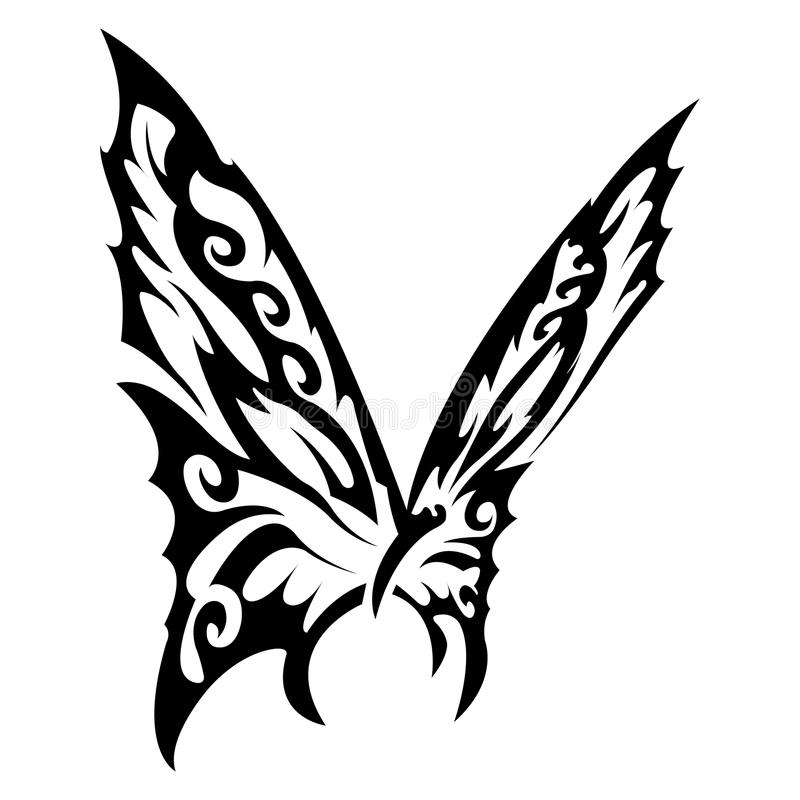 Papillon noir et blanc illustration de vecteur illustration du normal 48278711 - Tatouage papillon noir et blanc ...