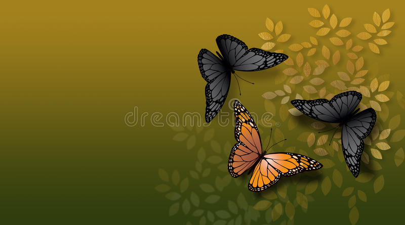 Papillon orange confronté illustration stock