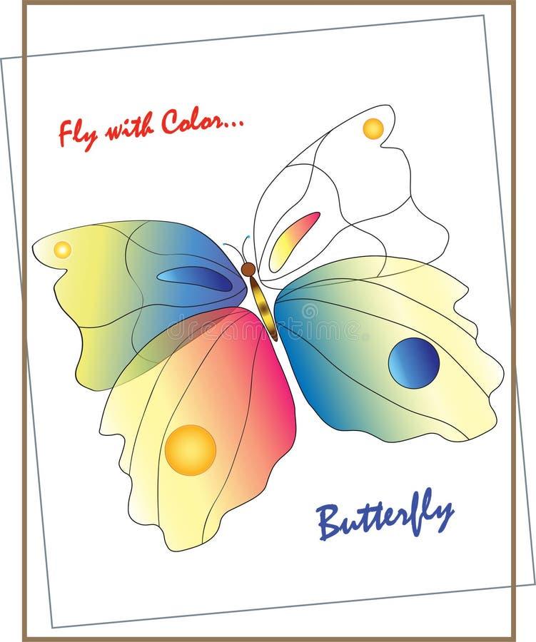 Papillon pour la bannière, carte, la publicité photographie stock