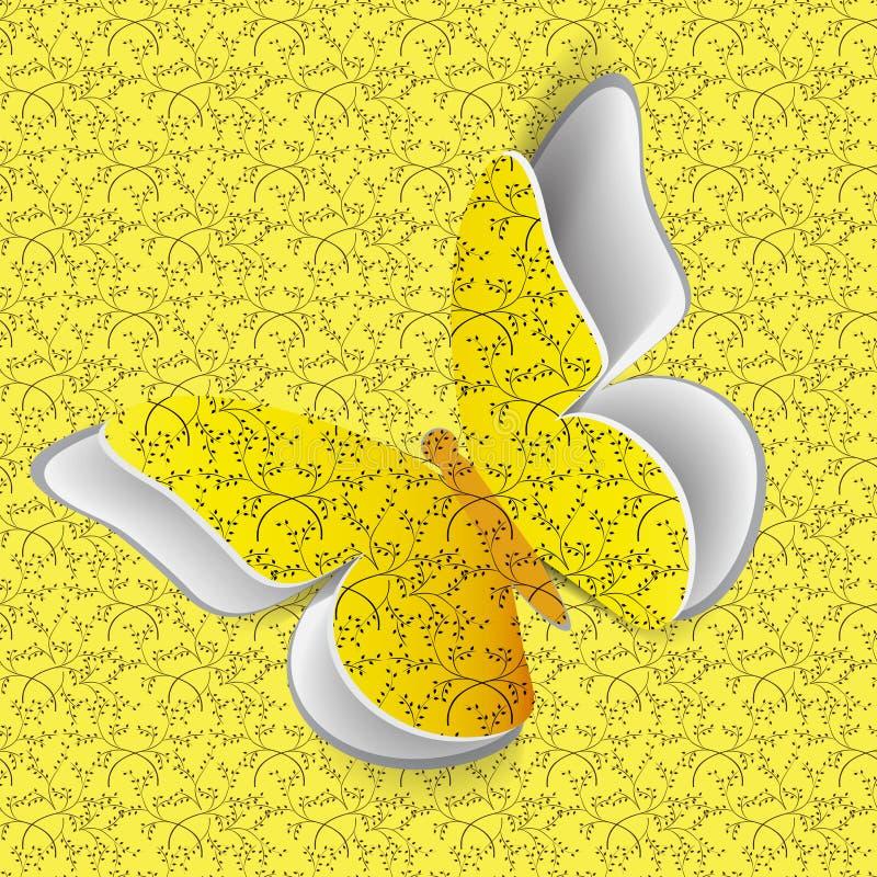 Papillon Sur Le Modèle Sans Couture Photos libres de droits