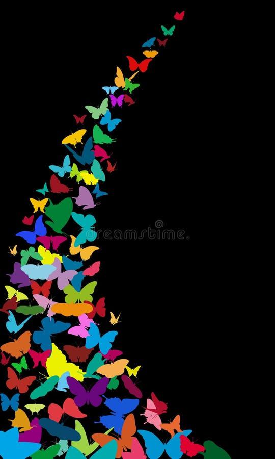 papillons illustration de vecteur