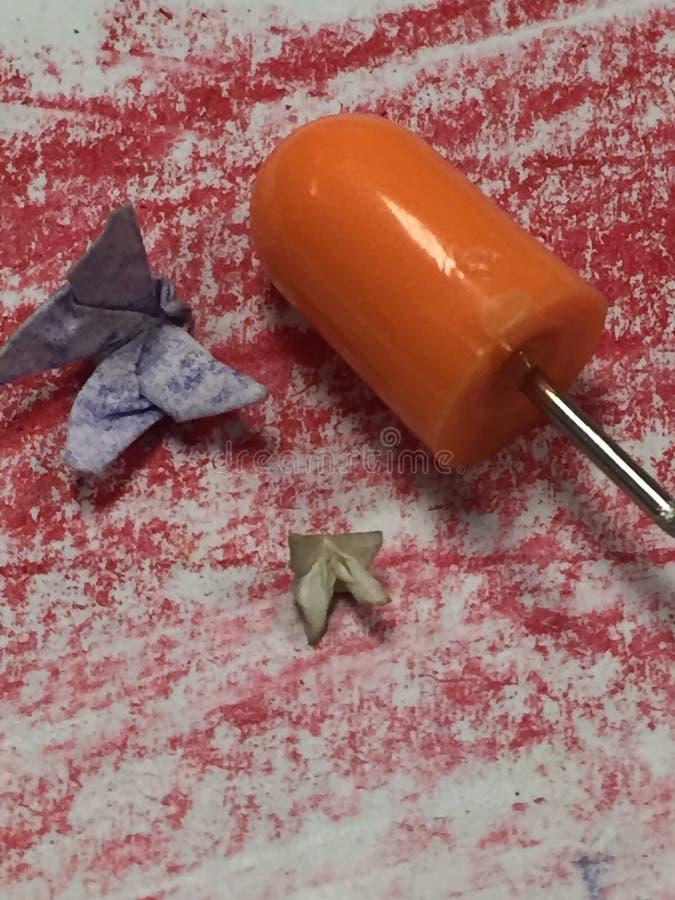 Papillons minuscules d'origami photos libres de droits