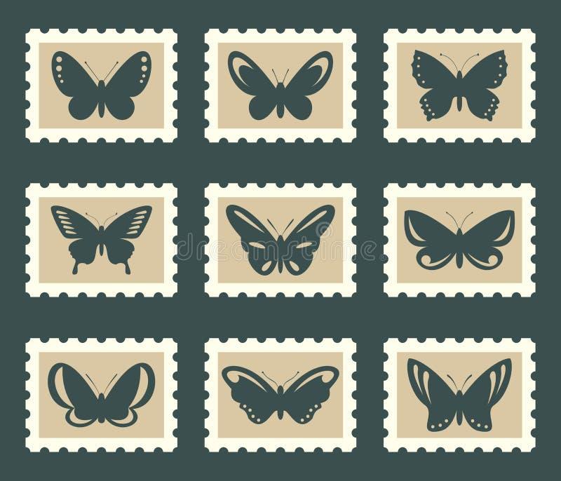 Papillons réglés illustration de vecteur