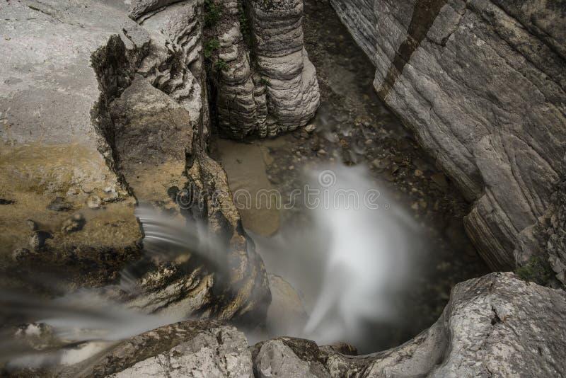 Papingowatervallen, Griekenland, Cyclade-Eiland stock fotografie