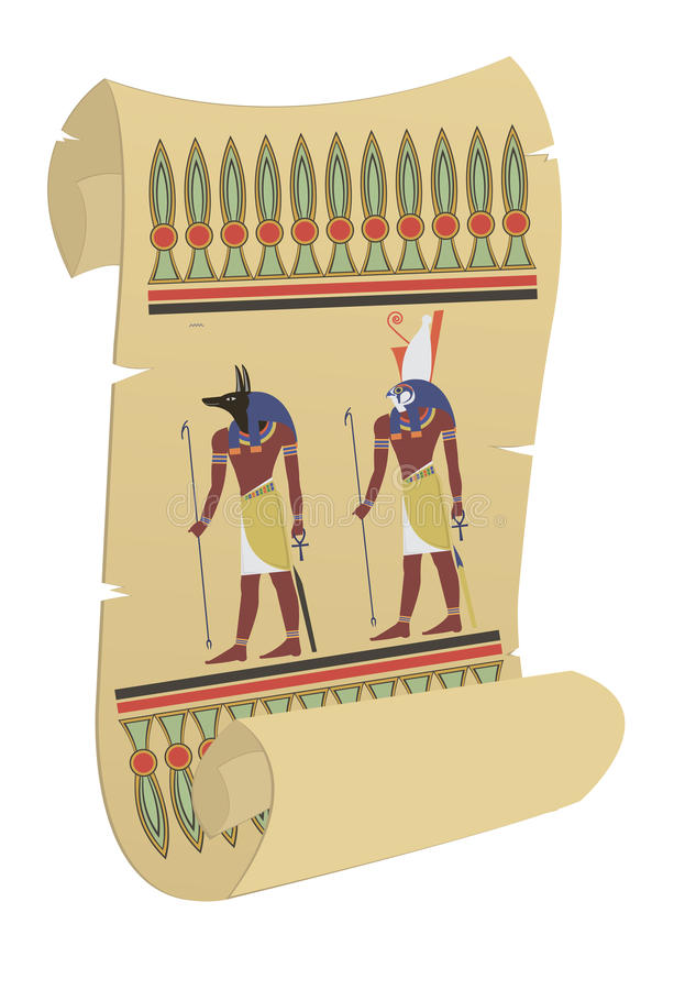 papiro stock de ilustración