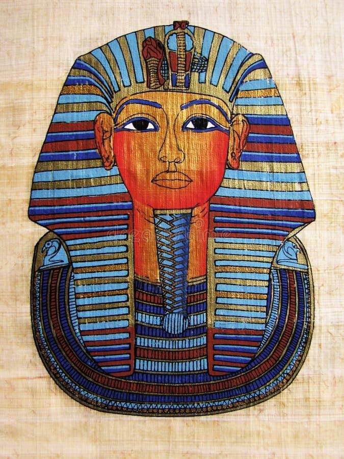 Papiro com o retrato do Pharaoh fotografia de stock royalty free