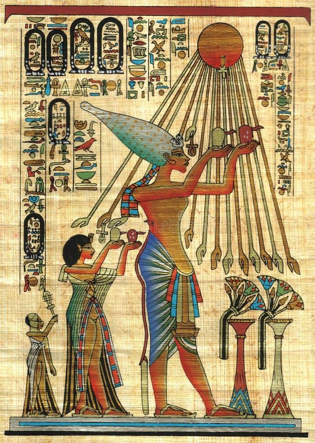 Papiro dell'Egiziano della priorità bassa fotografia stock