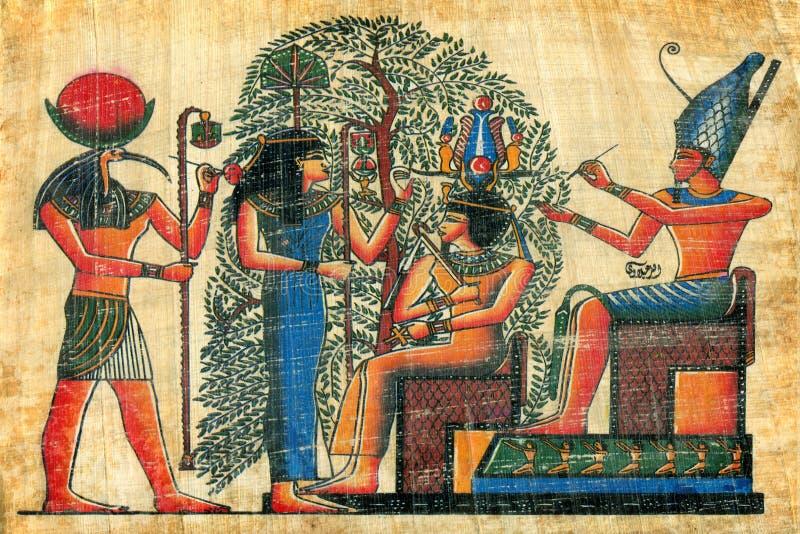 Papiro egípcio fotografia de stock royalty free