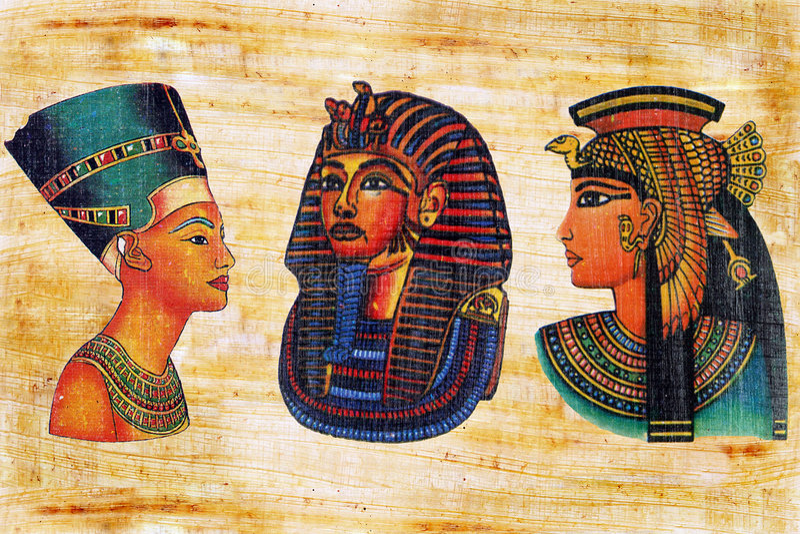 Papiro egípcio. foto de stock royalty free