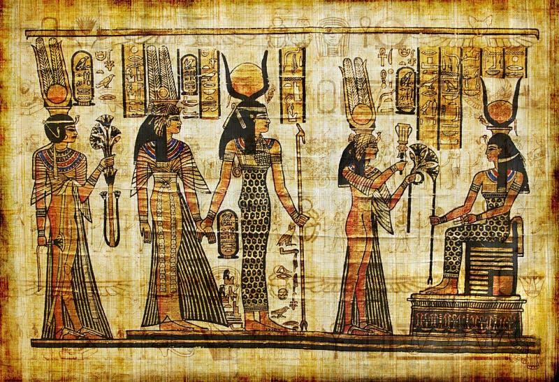 Papiro egípcio foto de stock
