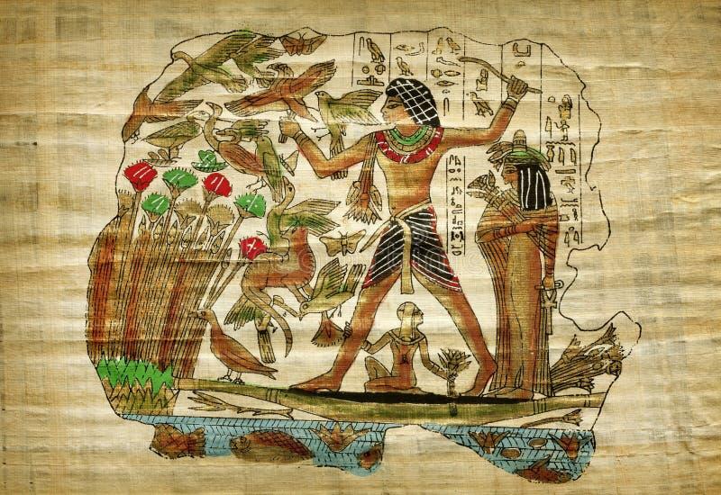 Papiro egípcio velho fotografia de stock