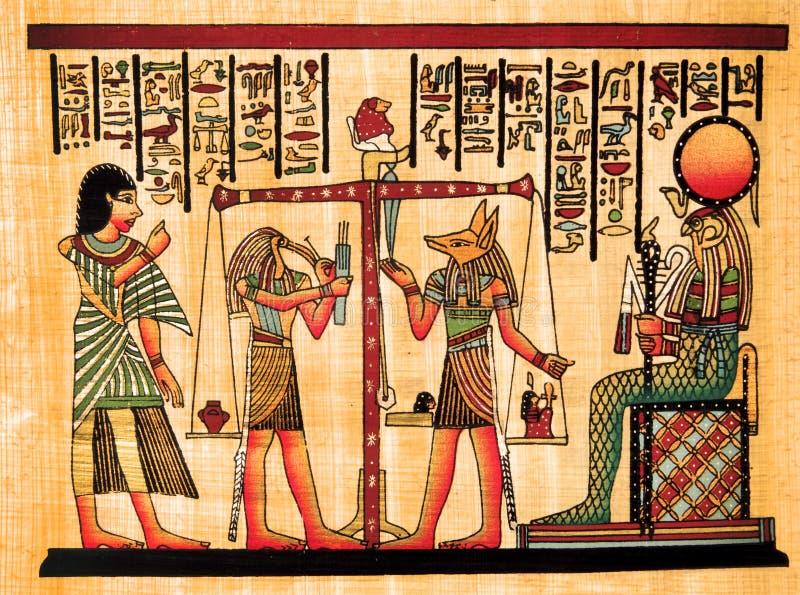 Papiro egipcio fotos de archivo libres de regalías