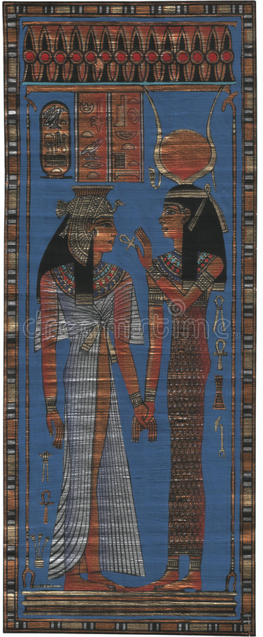 Papiro egipcio fotos de archivo