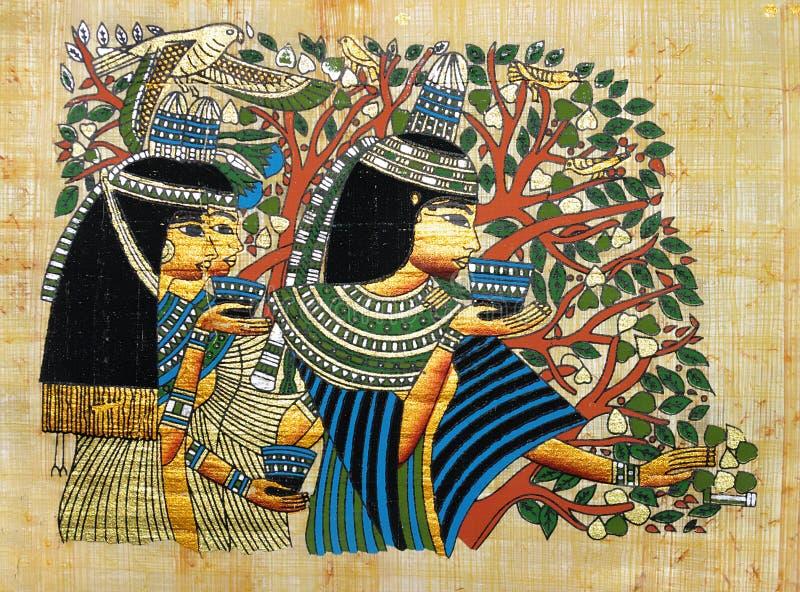 Papiro egipcio imagen de archivo libre de regalías