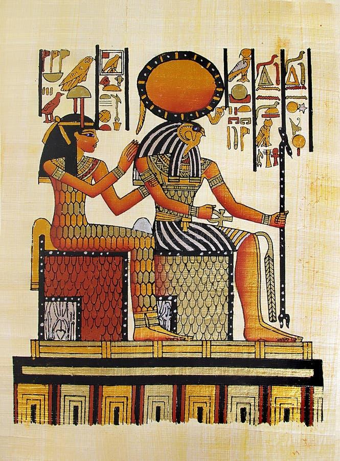 Papiro egipcio imágenes de archivo libres de regalías