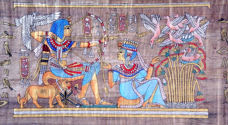 Papiro egipcio antiguo fotografía de archivo libre de regalías