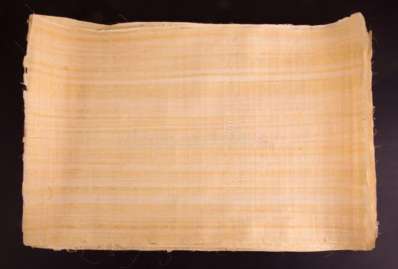 Papiro egipcio en blanco natural fotos de archivo