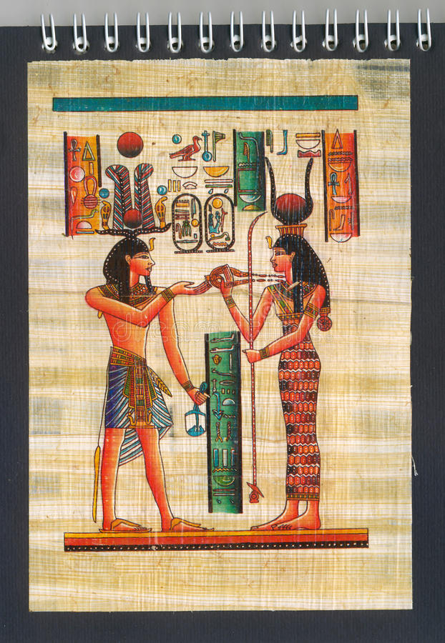 Papiro egiziano fotografie stock libere da diritti