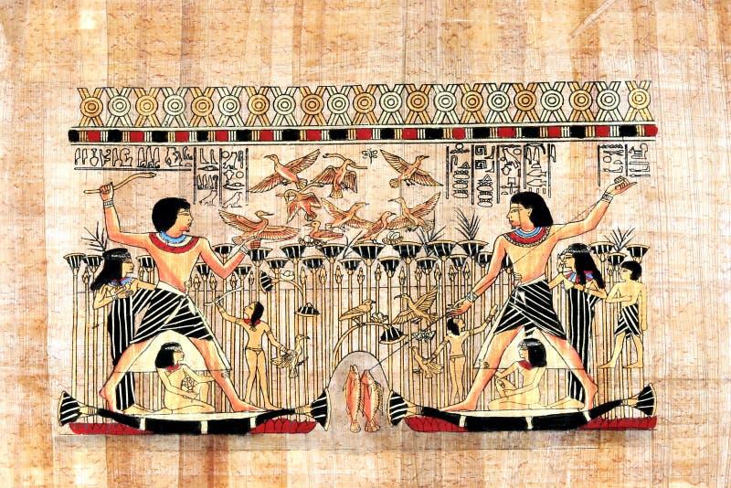 Papiro egiziano immagini stock