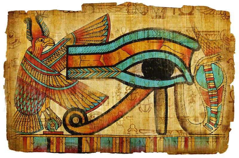 Papiro egiziano fotografia stock