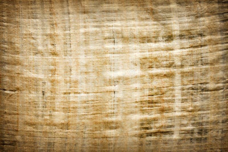Papiro velho do Egyptian do espaço em branco do vintage imagem de stock