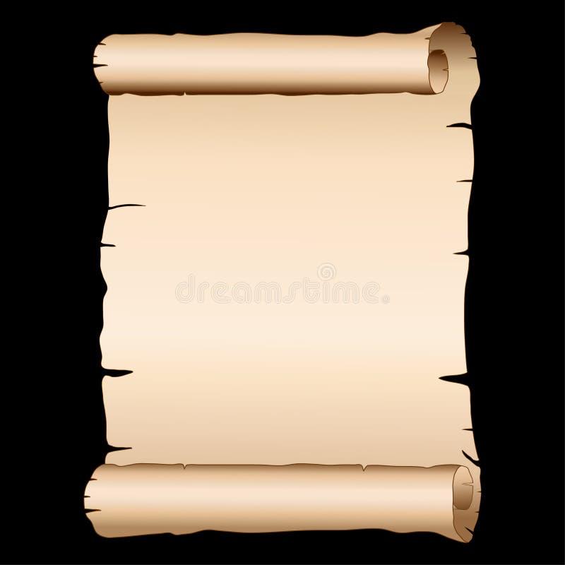 Papiro velho do vetor ilustração stock