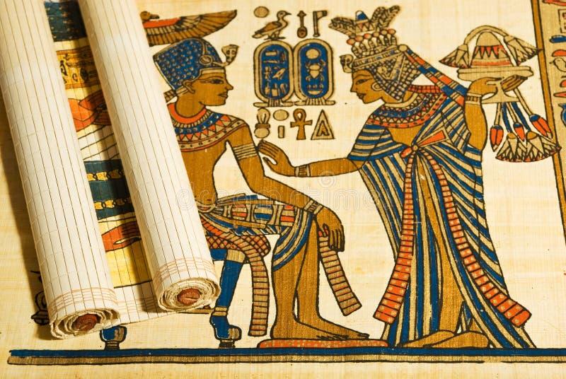 Papiro y desfile egipcios de Anticient foto de archivo libre de regalías
