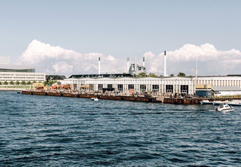 Papiroen-Nahrungsmittelmarkt in Kopenhagen, Dänemark lizenzfreie stockbilder