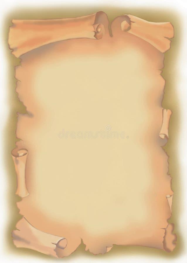 papirusowa ślimacznica ilustracja wektor