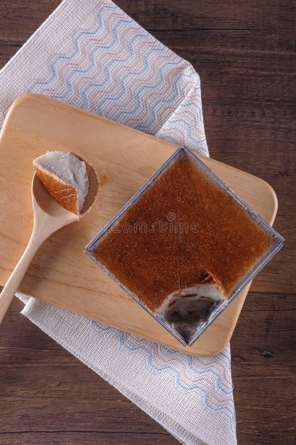 Papo Kaeng de Mung Bean Thai Custard Dessert Recipe Khanom fotos de stock royalty free