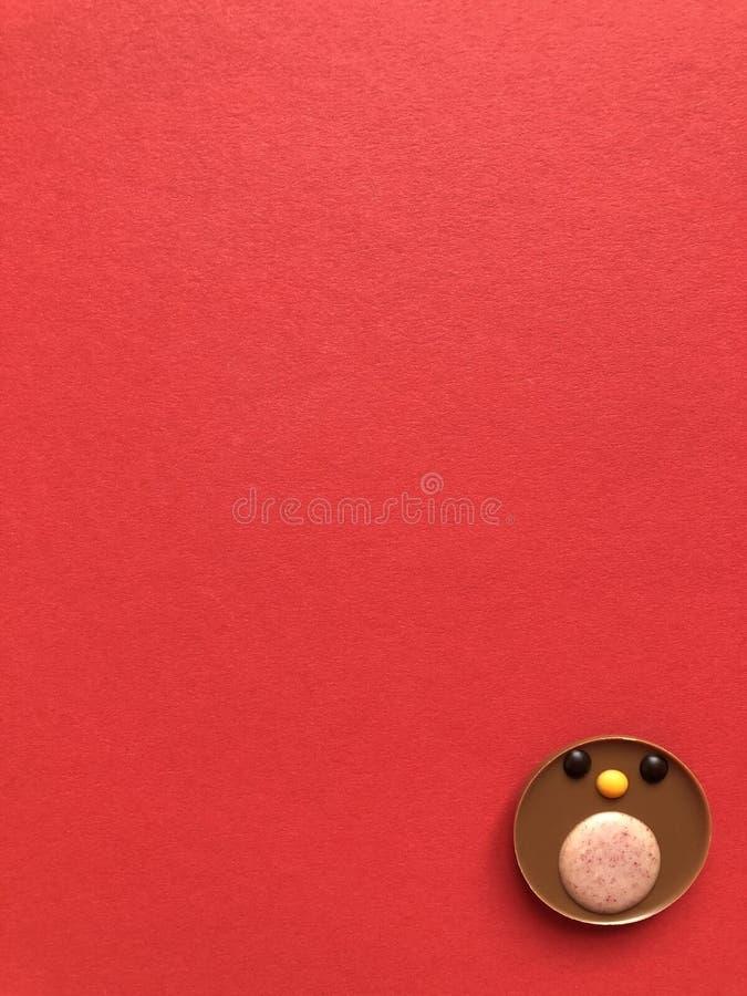 Papo-roxo do chocolate, um deleite delicioso do Natal imagem de stock