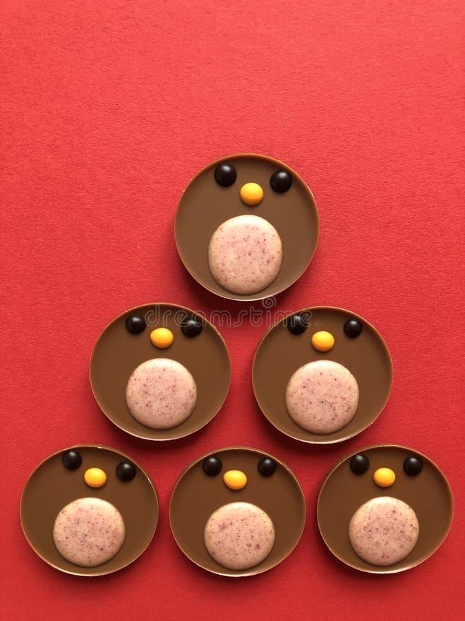 Papo-roxos do chocolate, um deleite delicioso do Natal fotos de stock royalty free
