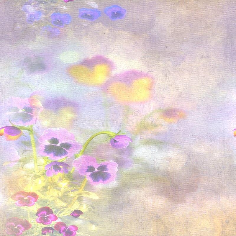 Papoilas em um fundo pintado ilustração stock
