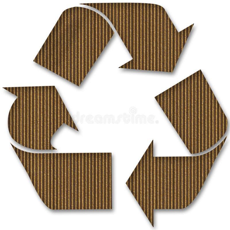 papp återanvänder symbol stock illustrationer