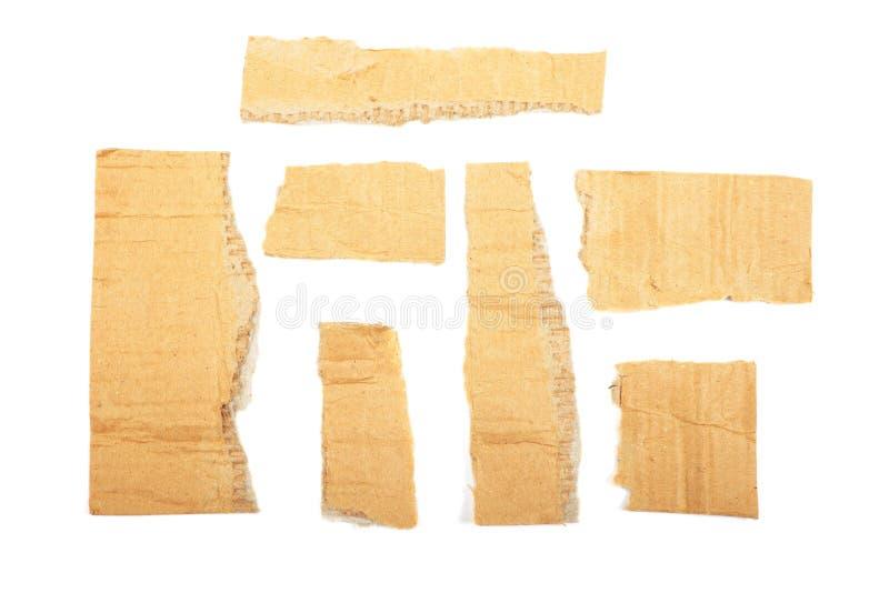 papp isolerade stycken arkivbild