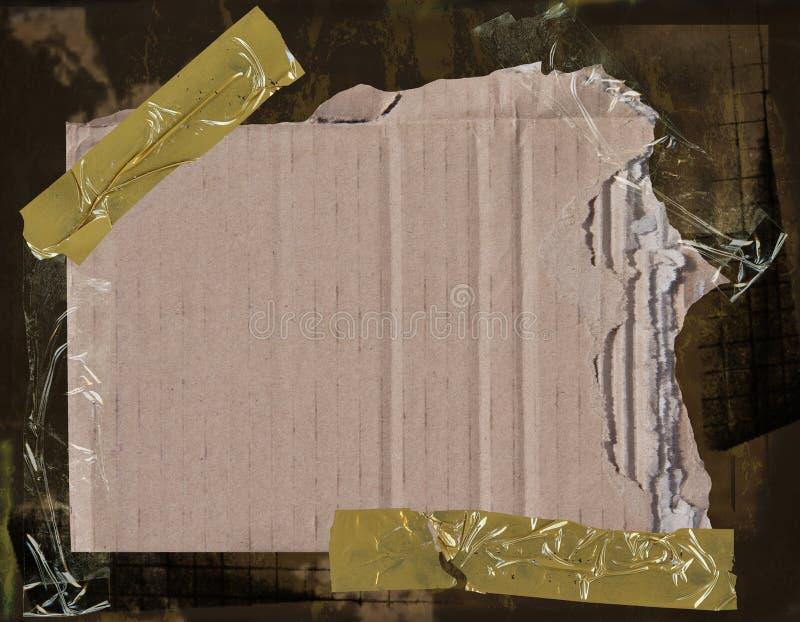 Pappe auf grunge Hintergrund stockfoto
