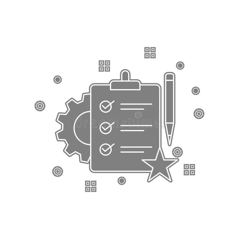 Pappe, Checkliste, Einzelteile, Listenikone Element von popicon für bewegliches Konzept und Netz Appsikone Glyph, flache Ikone fü vektor abbildung