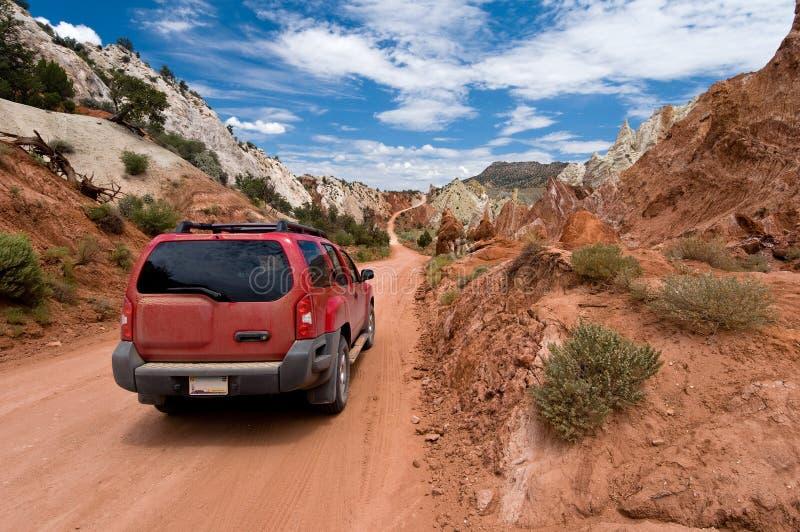 Pappel Canyon Road lizenzfreies stockbild
