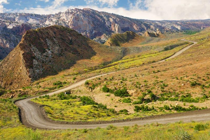 Pappel Canyon Road, Utah. lizenzfreies stockfoto