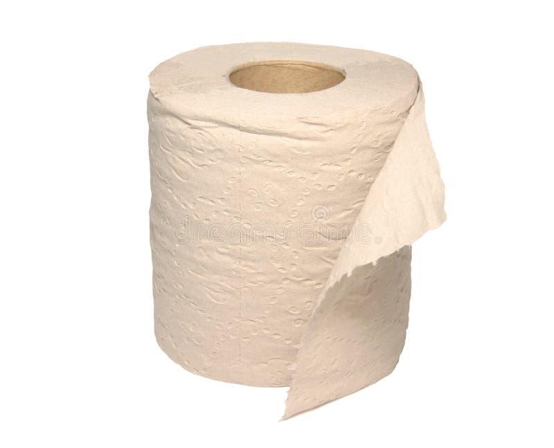 papper återanvänd toalett arkivbild