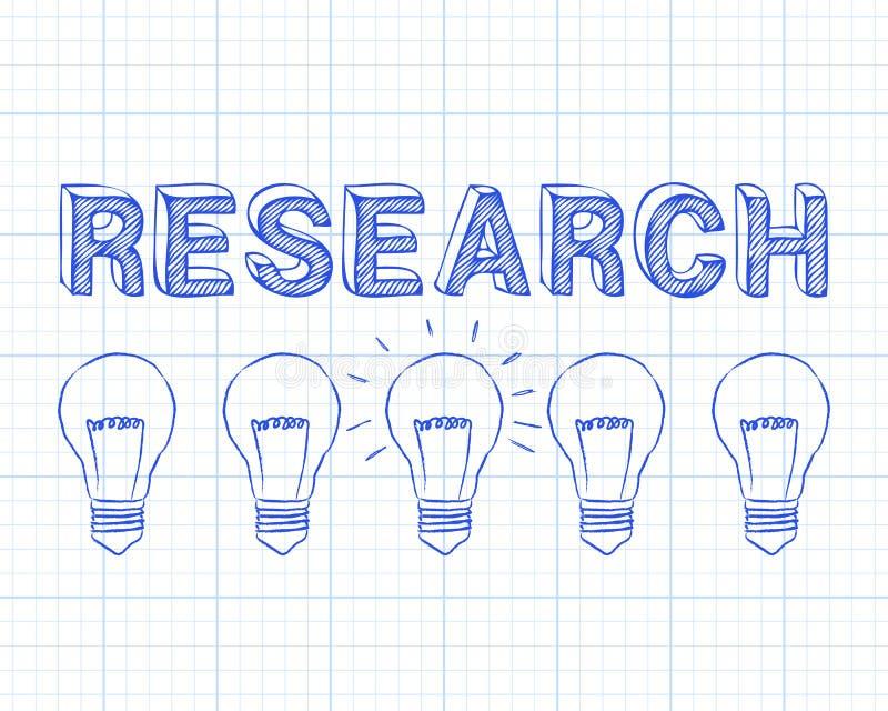 Papper för graf för ljusa kulor för forskning stock illustrationer