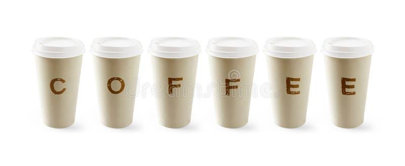 papper för kaffekopp arkivfoton