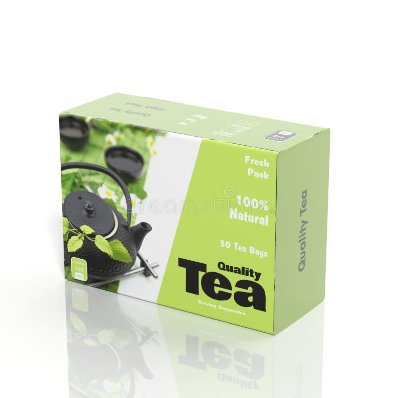 papper för te 3D royaltyfri illustrationer