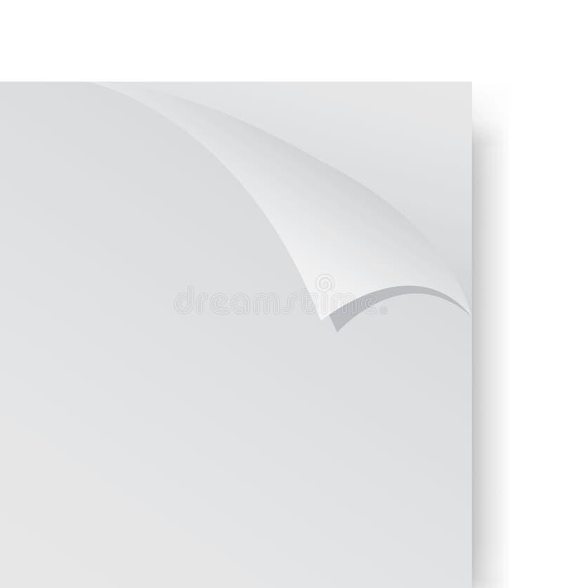 Papper med en krullning stock illustrationer